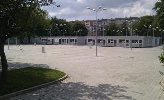 Tymczasowe targowisko przy ul. Skorochód-Majewskiego